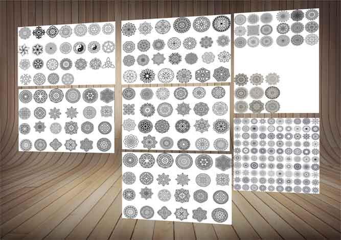 طرح های دایره ای یا مدور-ویژه طرح روی چوب،شیشه،سنگ یا لیزر-برای طراحان آشنا به کرلCDR
