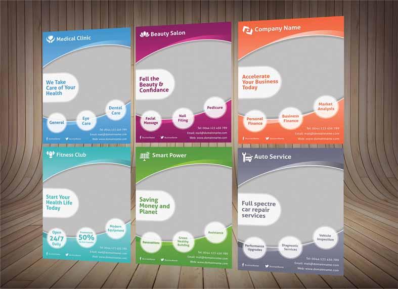 طرح خام تراکت لایه باز در شش رنگ مختلف- PSD