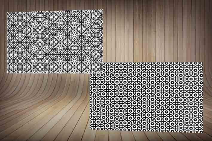 طرح های زمینه اسلامی و مذهبی با نقوش سنتی ویژه طراحان(کرل و ایلاستریتور)CDR-Ai-EPS