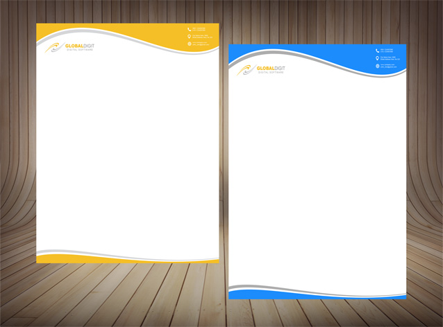 طرح لایه باز سربرگ در2رنگ-PSD