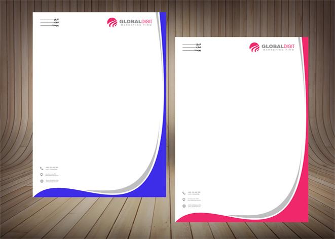طرح لایه باز سربرگ در2رنگ(2)-با فرمت های Aiو PSD