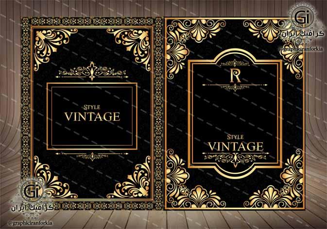 وکتور جلد آلبوم عکس و تزئینی(2)-با فرمت هایAi-EPS-PNG