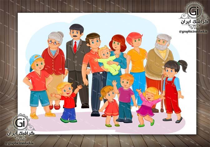 وکتور خانواده -با فرمت هایAi- EPS-PSD