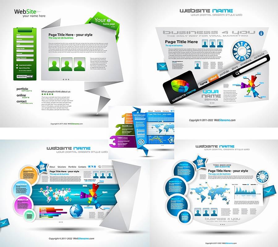 5 قالب گرافیکی سایت برای طراحان سایت + فوق العاده زیبا و انتزاعی