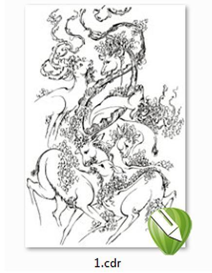 دانلود فایل کورل + طراحی گرافیکی بی نظیر اثر ماندگار استاد فرشچیان با کورل دراو
