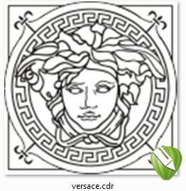 دانلود فایل کورل ورساچه با کورل -  Versace + corel draw