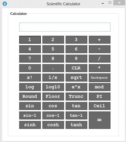 ماشین حساب مهندسی با زبان سی شارپ