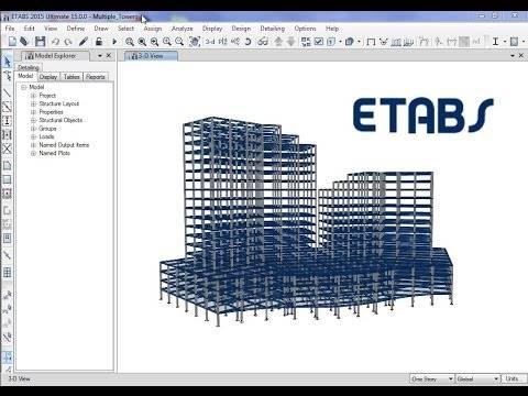 نرم افزار تحلیل و طراحی ساختمان (ETABS)
