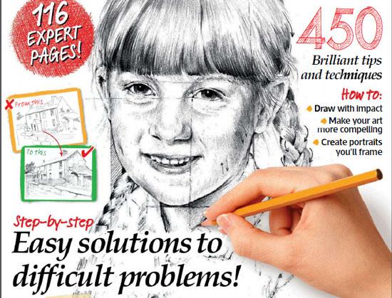 دانلود مجله آموزش طراحی سیاه قلم و مداد رنگی