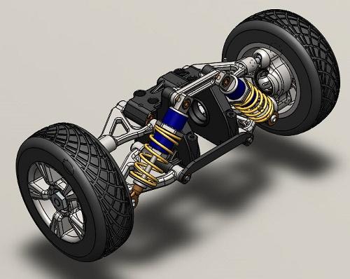 طراحی سیستم تعلیق خودرو در solid works