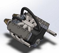 پروژه طراحی موتور 6 سیلندر با سالید ورک