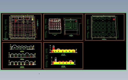 دانلود پلان و نقشه مسجد جامع شبستر با فرمت  DWG