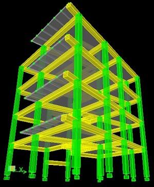 سازه 4 طبقه بتنی دارای تاییدیه نظام مهندسی