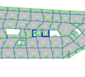 فایل معماری و Etabs و نقشه های اجرایی سازه عظیم با متراژ 13000 مترمربع