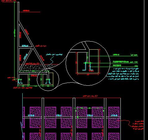 دتایل های اجرایی مختلف از سازه نگهبان