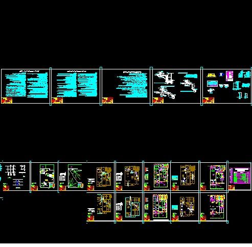 نقشه های تاسیسات مکانیکی به همراه پکیج و رادیاتور