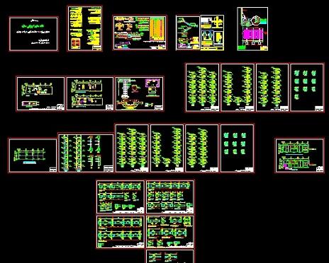پروژه 6 سقف مسکونی تجاری بتنی با دیوار برشی و شمع (تحلیل طیفی) دارای تاییدیه نظام مهندسی