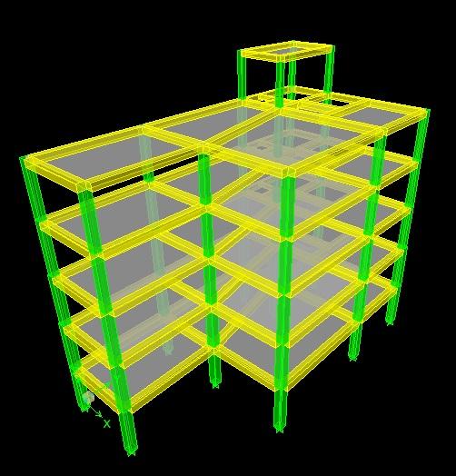 نقشه معماری و سازه ساختمان 5 طبقه به همراه فایل های محاسباتی و دفترچه محاسبات کامل مورد تایید نظام مهندسی ( تحلیل دینامیکی طیفی )