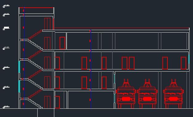 دانلود نقشه معماری و محاسبات ساختمان ایستگاه آتش نشانی