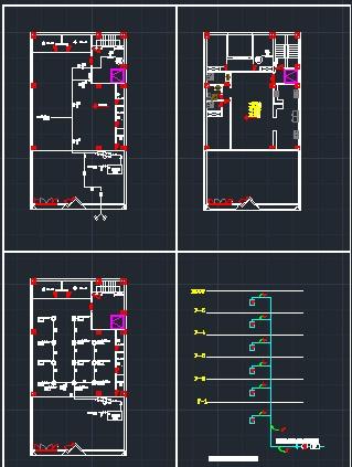 نقشه اجرای سیستم اطفای حریق (تاسیسات مکانیک) ساختمان مسکونی 6 طبقه دارای تاییدیه آتش نشانی مطابق ضوابط