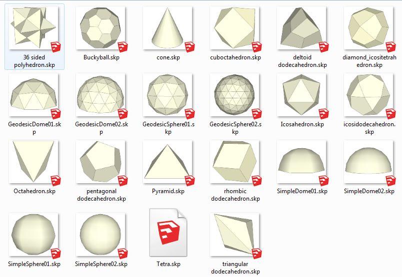 کامپوننت های اسکچاپ اشکال هندسی  Shapes