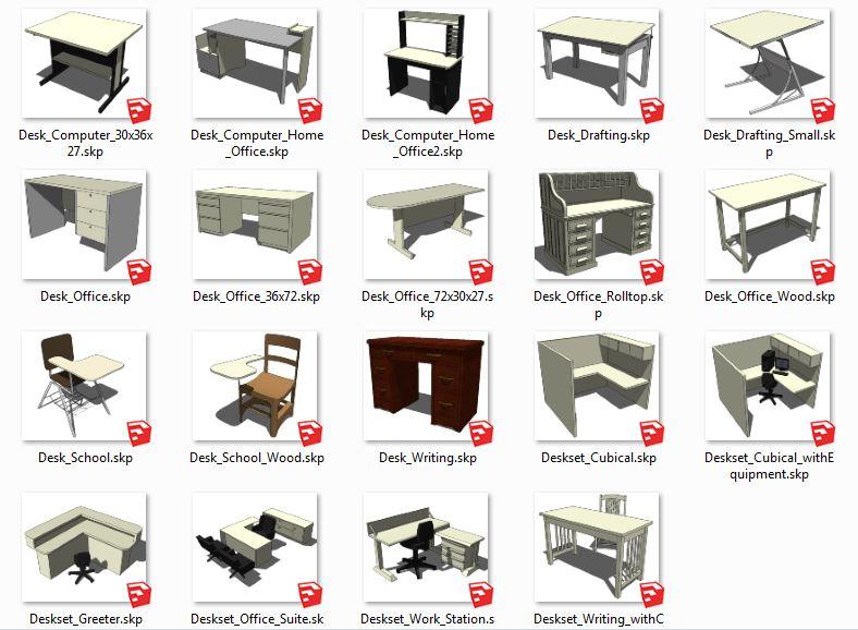 کامپوننت های اسکچاپ میز Desks