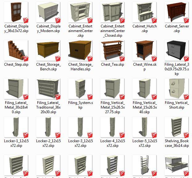 کامپوننت های اسکچاپ قفسه Storage