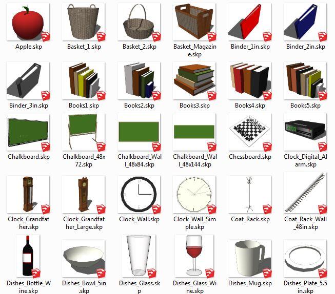 کامپوننت های اسکچاپ وسایل تازئینی Interior_Objects