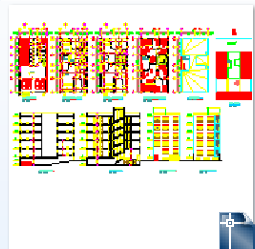 نقشه پلان ساختمان 5 طبقه مسکونی