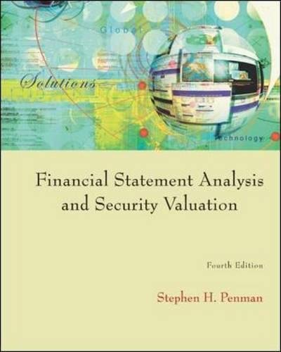 حل تمرین تجزیه و تحلیل صورت های مالی و ارزشگذاری اوراق بهادار Penman - ویرایش چهارم