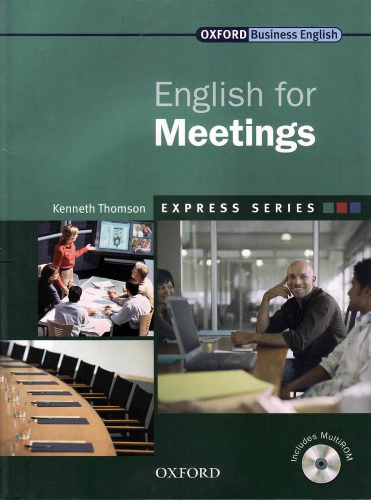 کتاب Oxford English for Meetings به همراه فایل های صوتی کتاب