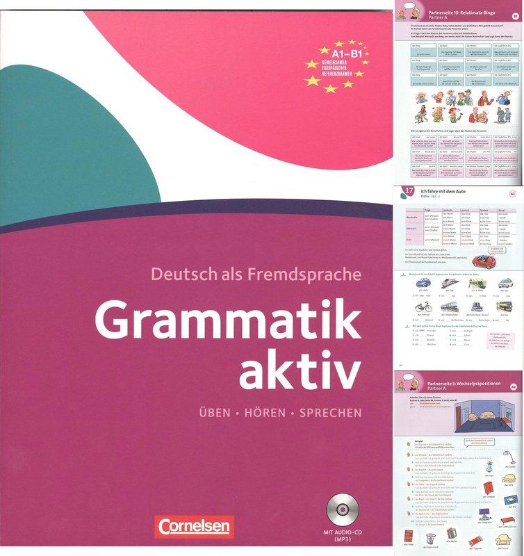 کتاب آموزش زبان آلمانی Grammatik aktiv А1-В1 به همراه فایل های صوتی کتاب
