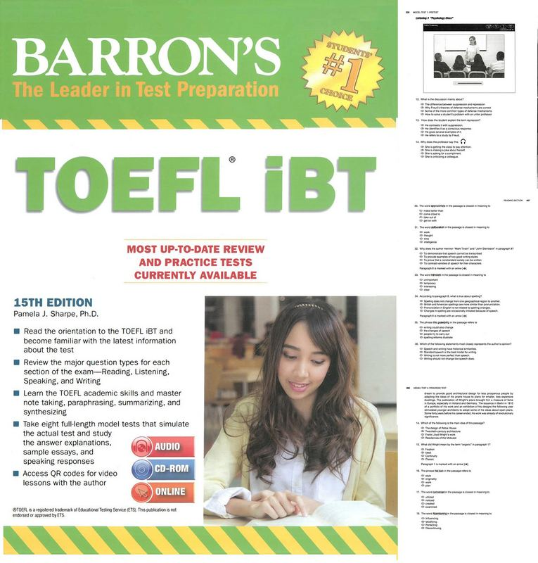 کتاب TOEFL IBT - ویرایش پانزدهم (2016)