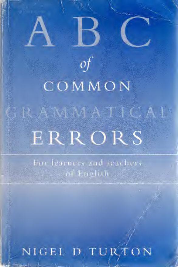 کتاب ABC of Common Grammatical Errors