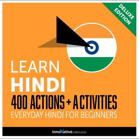 کتاب آموزش زبان هندی Learn Hindi 400 Actions + Activities Everyday Hindi for Beginners به همراه فایل های صوتی کتاب