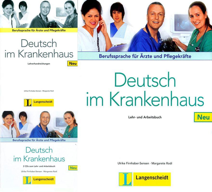 کتاب آموزش زبان آلمانی Deutsch Im Krankenhaus به همراه کتاب معلم و فایل های صوتی کتاب