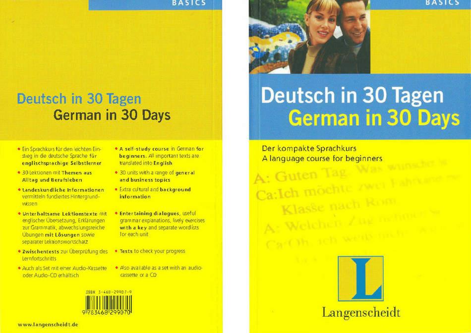 کتاب آموزش زبان آلمانی Deutsch in 30 Tagen به همراه فایل های صوتی کتاب