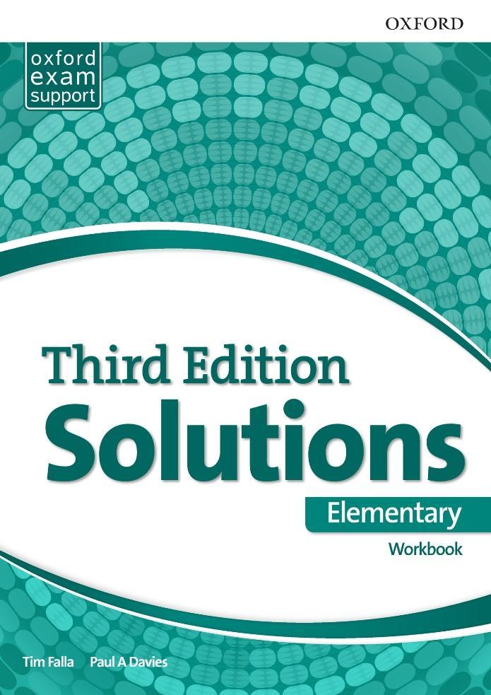 جواب تمارین کتاب کار Solutions Elementary Workbook به همراه متن فایل صوتی - ویرایش سوم