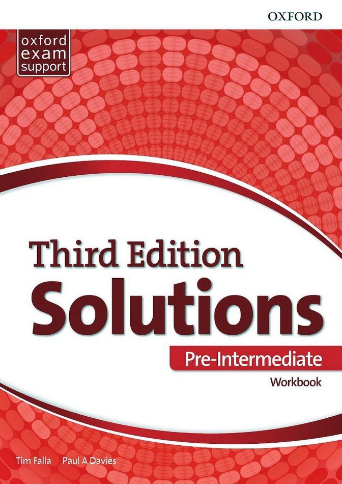 جواب تمارین کتاب کار Solutions Pre-Intermediate Workbook به همراه متن فایل صوتی - ویرایش سوم