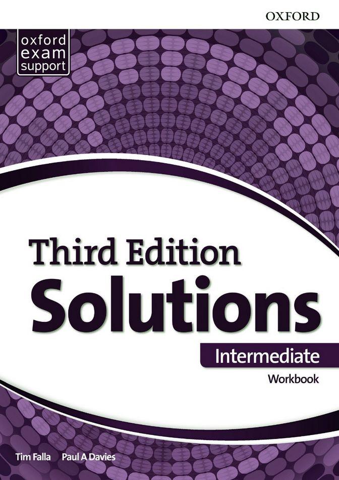 جواب تمارین کتاب کار Solutions Intermediate Workbook به همراه متن فایل صوتی - ویرایش سوم