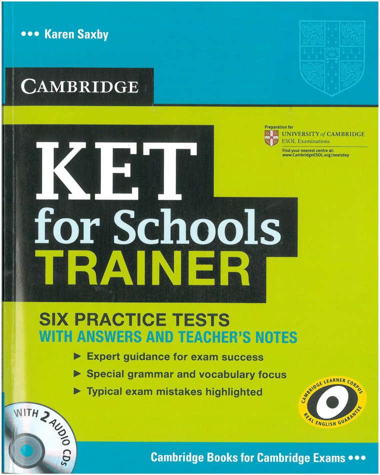 کتاب KET for Schools Trainer به همراه فایل های صوتی کتاب