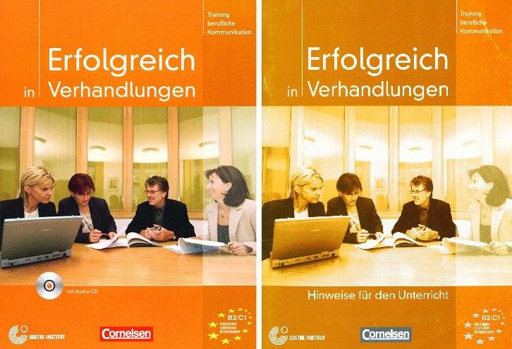 کتاب آموزش زبان آلمانی Erfolgreich in Verhandlungen B2-C1 به همراه فایل های صوتی کتاب