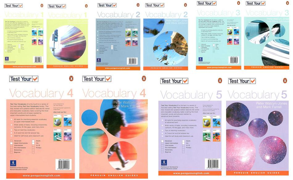 مجموعه 5 جلدی کتاب های Penguin Test Your Vocabulary