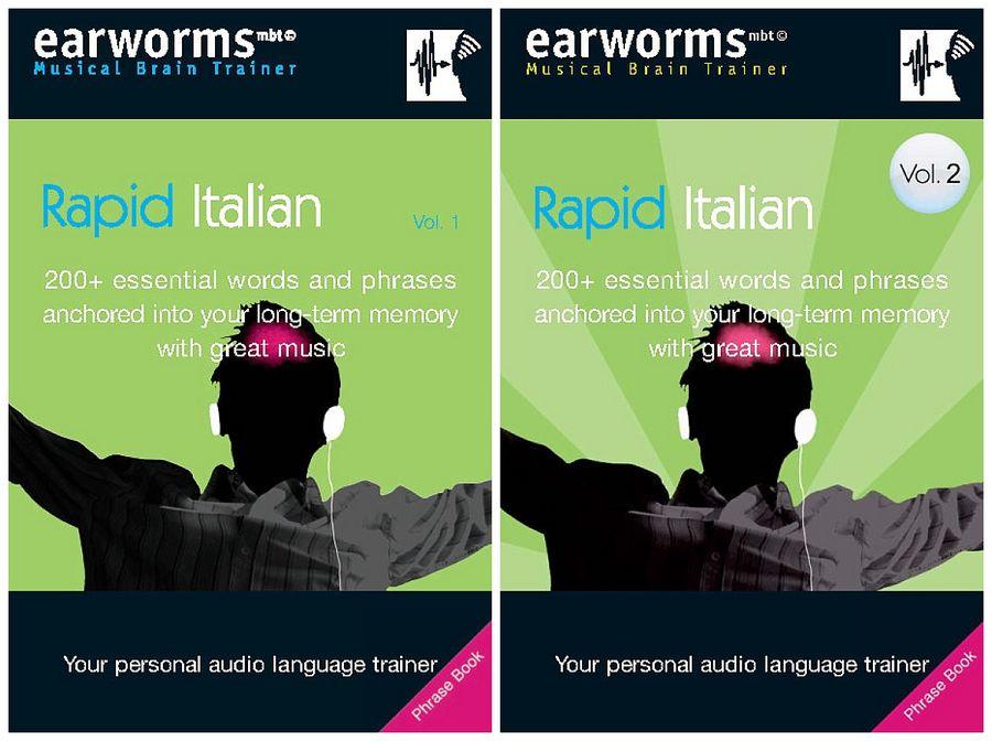 مجموعه آموزش زبان ایتالیایی Earworms Rapid Italian - جلد اول و دوم