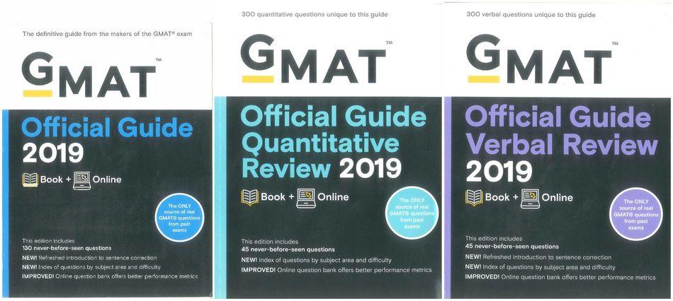 مجموعه 3 جلدی کتاب های GMAT Official Guide 2019