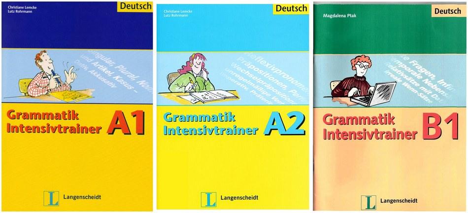 مجموعه کتاب های آموزش زبان آلمانی Grammatik Intensivtrainer سطح های A1 و A2 و B1