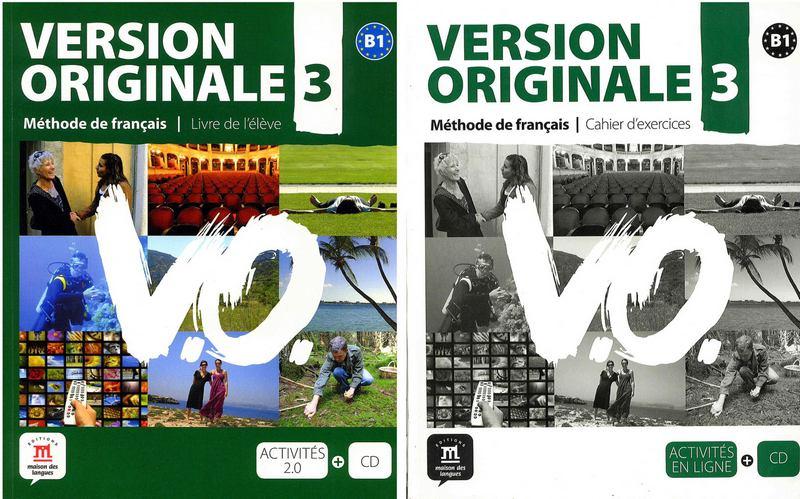 کتاب آموزش زبان فرانسوی Version Originale 3 به همراه کتاب کار و فایل های صوتی کتاب