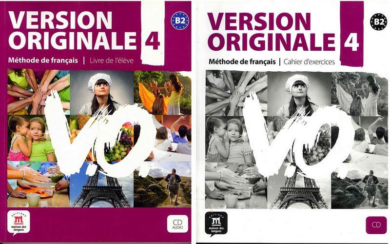 کتاب آموزش زبان فرانسوی Version Originale 4 به همراه کتاب کار و فایل های صوتی کتاب