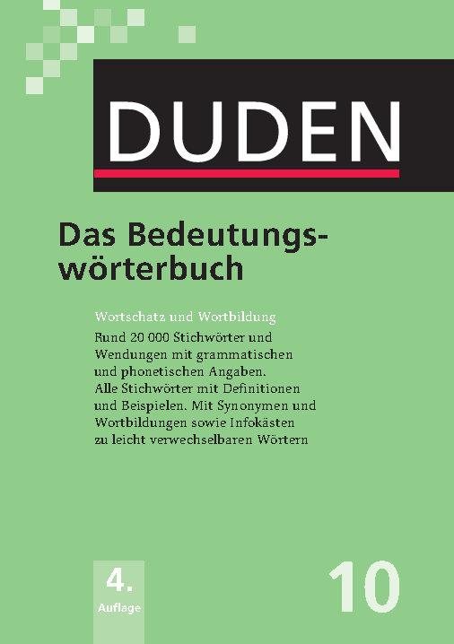 کتاب آموزش زبان آلمانی Duden 10. Das Bedeutungswörterbuch - ویرایش چهارم