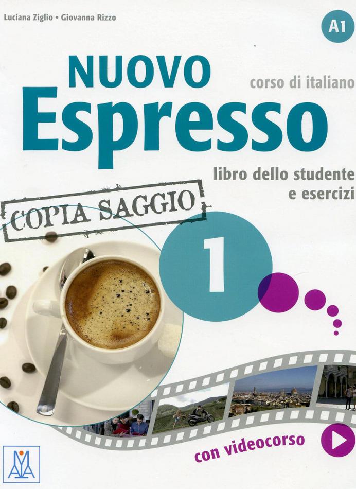 کتاب آموزش زبان ایتالیایی Nuovo Espresso 1 به همراه کتاب معلم و فایل های صوتی کتاب